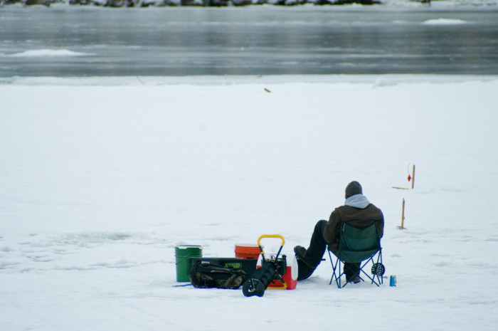 5. We're dedicated and patient, even in freezing temperatures.