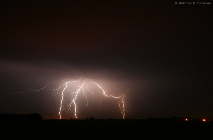 10. Lightning from a late North Dakotan summer storm well past midnight is caught in this spectacular shot.