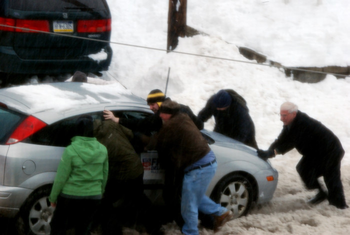 8. And stop to help someone who is stuck on the side of the road...