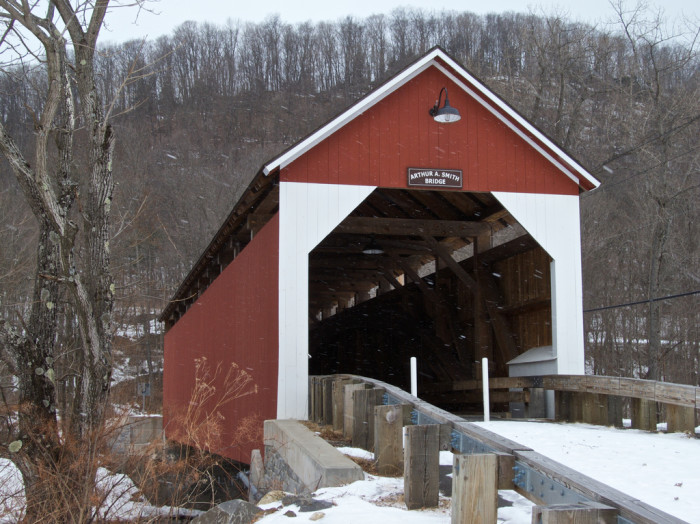 8. Arthur A. Smith Covered Bridge, Lyonsville.