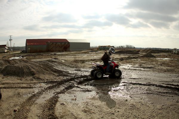 8. We raced things,- dirt bikes, BMX bikes, horses, pigs, go carts, etc.