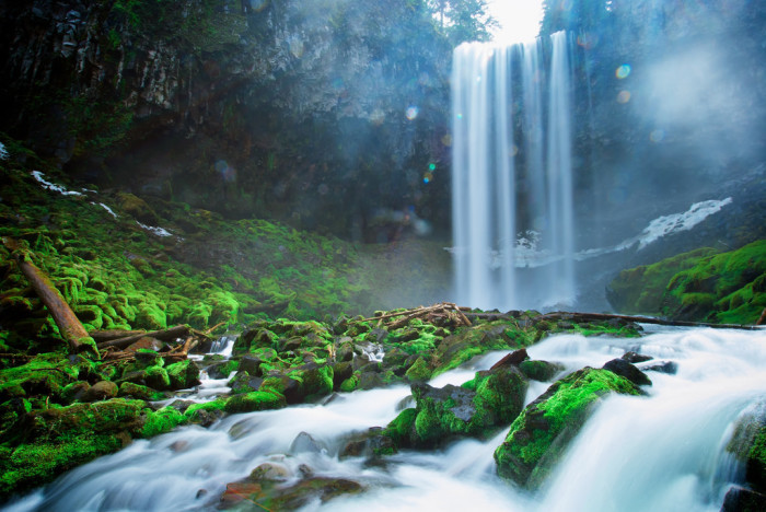 4. Tamanawas Falls in Mt. Hood National Forest, Oregon.
