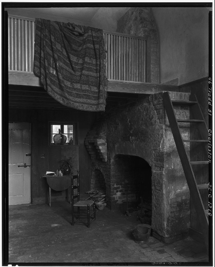 21. The interior of the same house at 46 Tradd Street in Charleston.