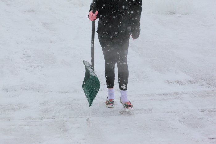 5. Shovel snow. We also all know this struggle!