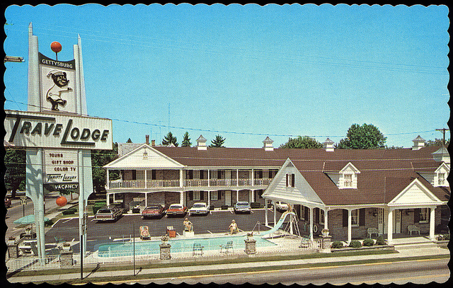 7. A TraveLodge in Gettysburg in the 1970s.
