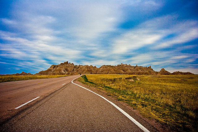 open road to bear butte