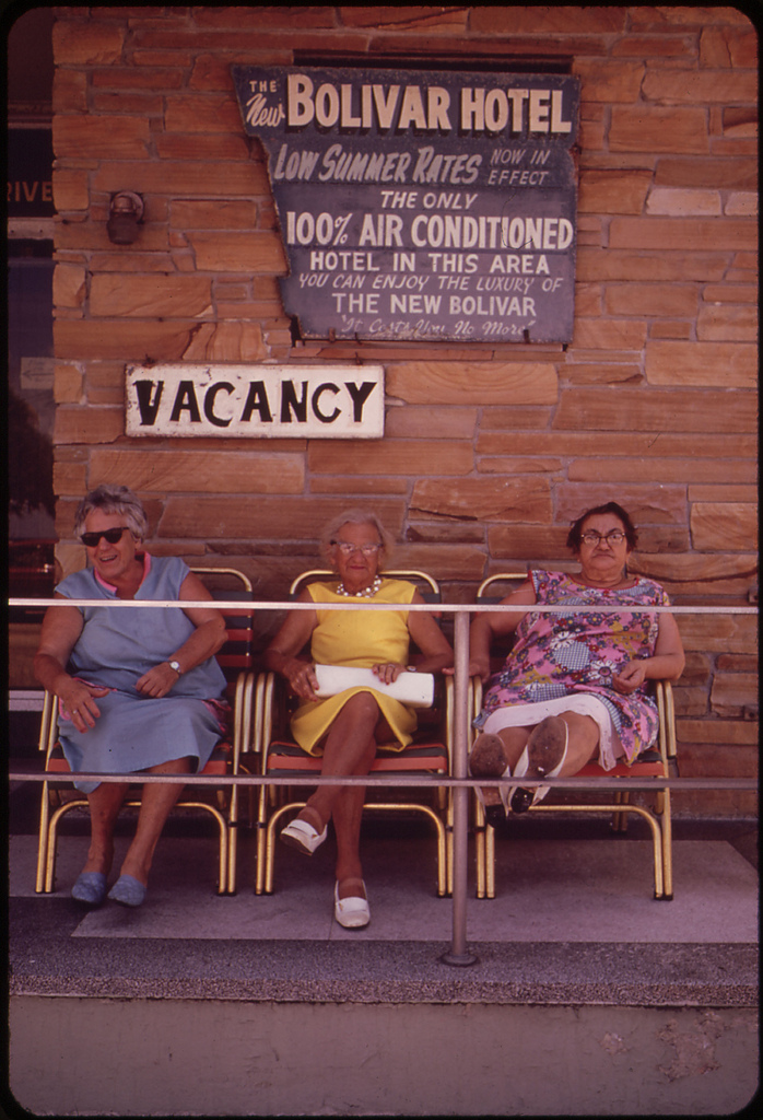 12. Inexpensive Retirement Hotels Are a Hallmark of the South Beach Area. A Favored Place Is the Front Porch, Where Residents Sit and Chat Or Watch the Activities on the Beach.