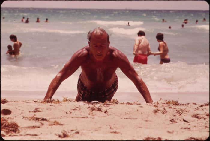 5. Lives of the Many Elderly Persons Who Have Chosen South Beach for Their Retirement Years Revolve Around the Beach. It Is the Longest Stretch of Public Beach in the Area.