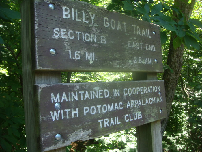 Billy goat Trail is split into three sections - A, B, and C.