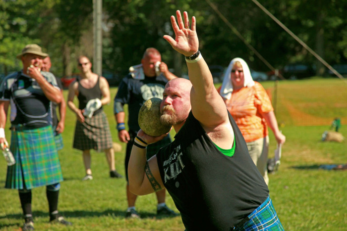 9. Win an actual yelling contest the Glasgow Lands Scottish Festival, Northampton.