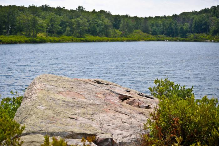 Enjoy waterfront views of Crater Lake and Hemlock Pond.