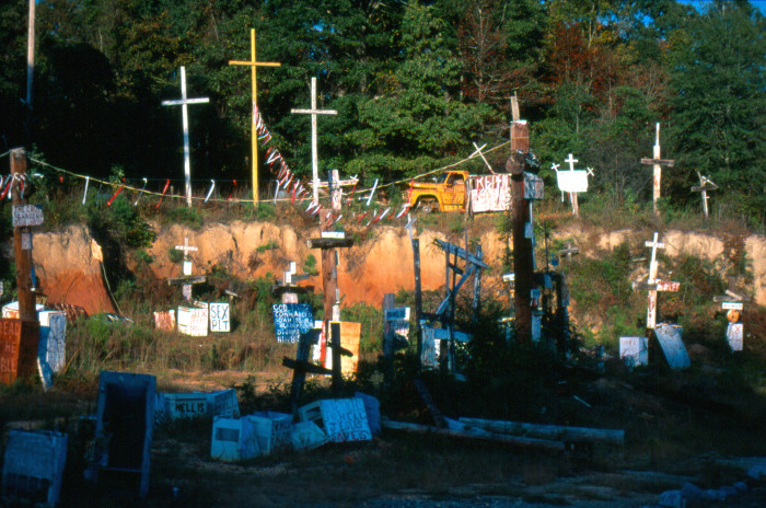 10. The Cross Garden, located in Prattville, Alabama, is considered to be one of America's best roadside attractions.