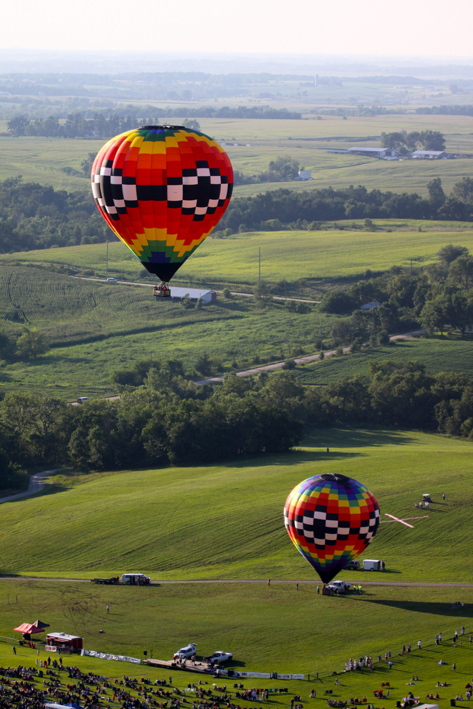 5. Take a hot air balloon ride over Indianola during the National Balloon Classic.