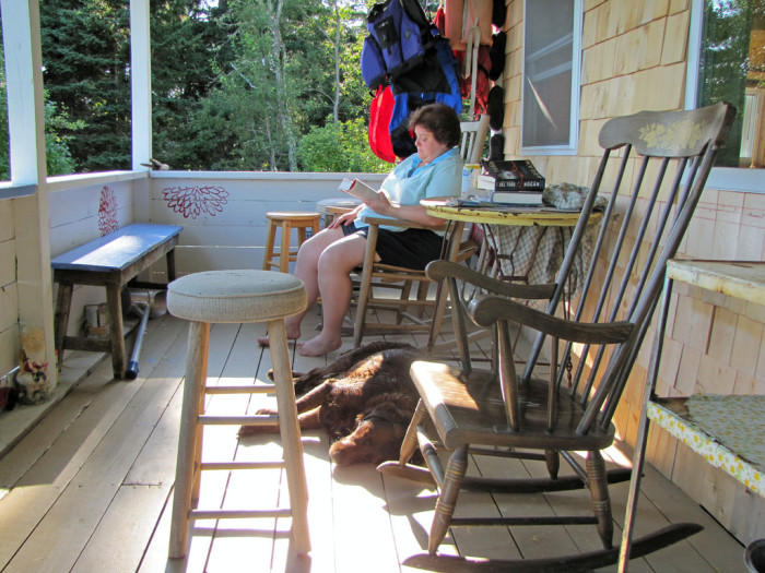 3. Then it's time to relax on your porch … or your neighbors porch if you don't have one.