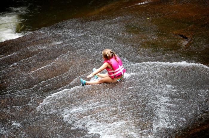 14. Get a rush of adrenaline at Sliding Rock.