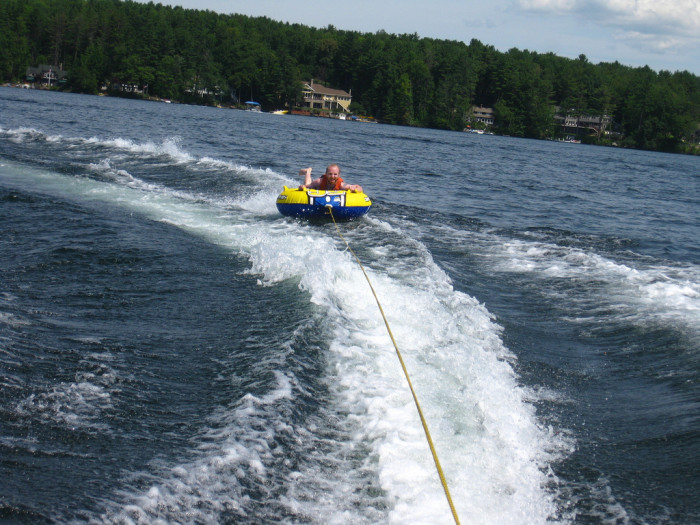 11. Gone tubing, during the summer.