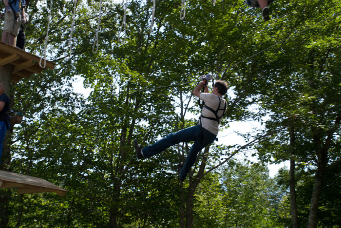 4. And while you're there, take a ride on the Jiminy Peak zipline if you're feeling brave.