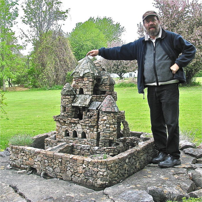 8.  Visit Harry Barber's miniature castles throughout South Hero.