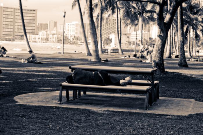 5. And Hawaii has a major homeless population.