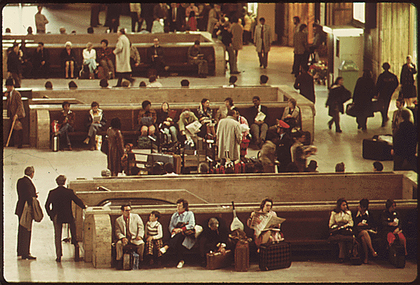 2. The interior of 30th Street Station in Philadephia, 1974.