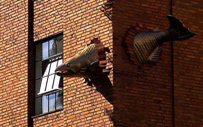 3. Portland's Salmon sculpture