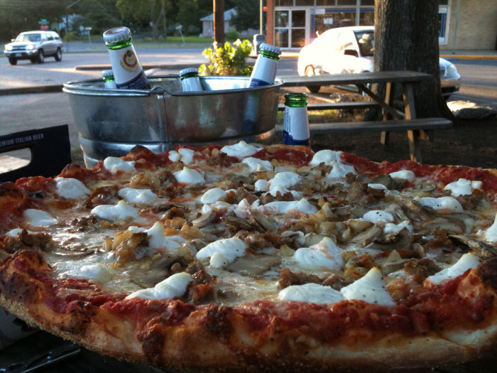 10. Little Deli Pizzeria...because who doesn't love a bucket o' beer to go along with a freshly made pie?