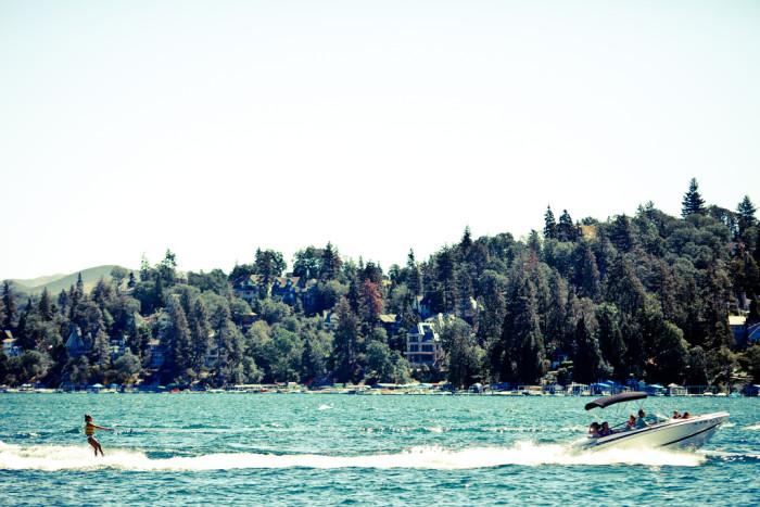 2. Water skiing at Lake Arrowhead