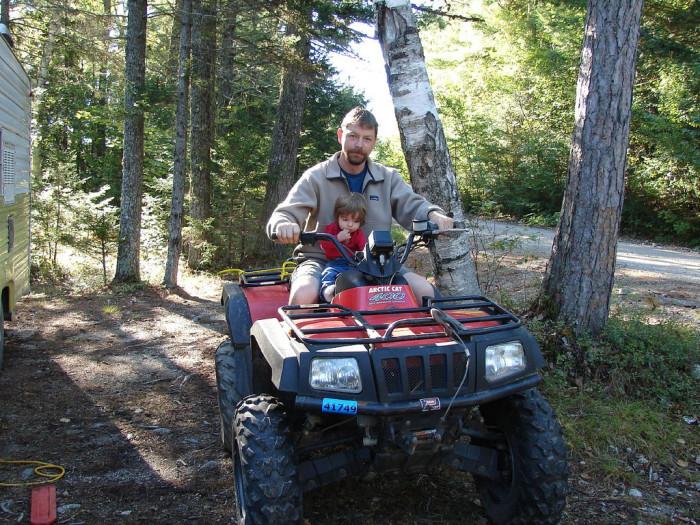 8. Run an errand on an ATV...