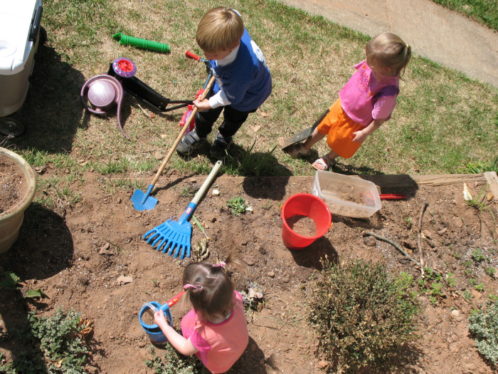 13. Young or old, we played in dirt and got our hands dirty.