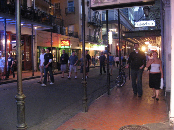 7) The main place to go out in New Orleans is Bourbon St.