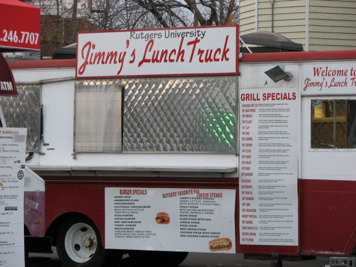 5. Pack some Pepto if you plan on eating at one of Rutgers' Grease Trucks.