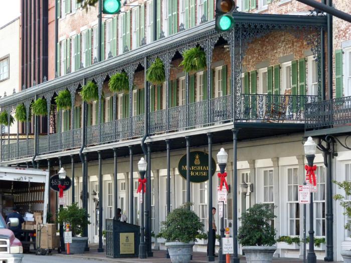 6. The Marshall House Hotel—123 E Broughton St, Savannah, GA 31401