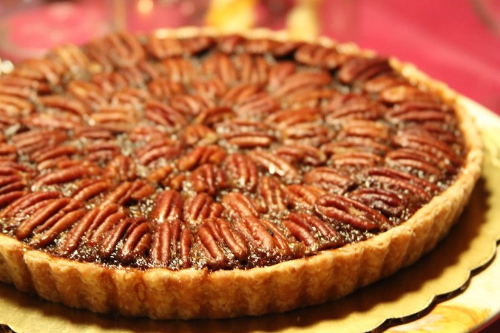 4. A pecan pie on the holiday table.