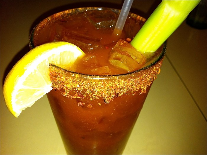 2. Pair your breakfast with an Old Bay rimmed bloody mary.