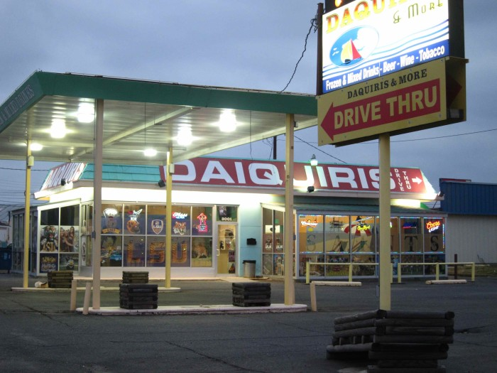 9) Drive up to the Daiquiri shop.