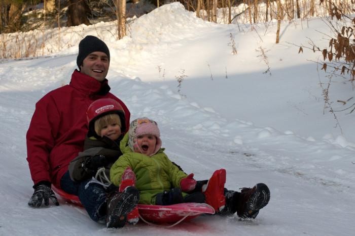 10.  Go sledding.