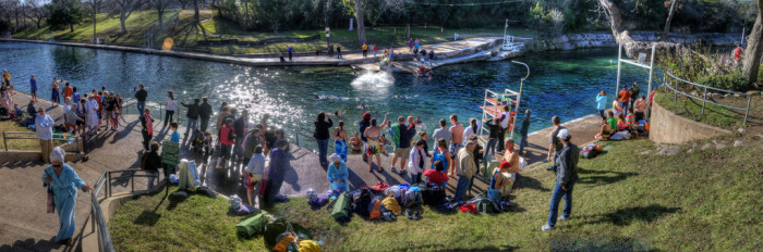 10. Swim in a natural spring-fed pool! This one is the famous Barton Springs pool in Austin.