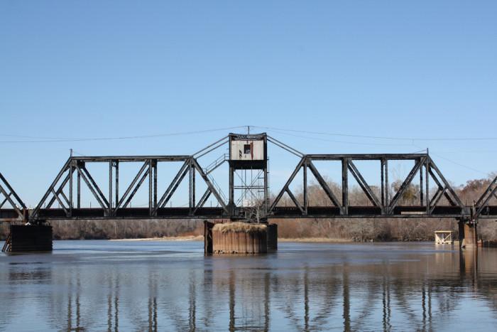 9. Norfolk Southern Railroad Pearl River Swing Bridge