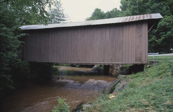 Jack's Bridge covered bridge over the Smith River in Patrick County