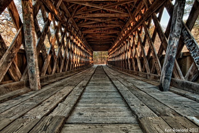 1. Poole's Mill Covered Bridge – 7725 Pooles Mill Rd, Ball Ground, GA 30107