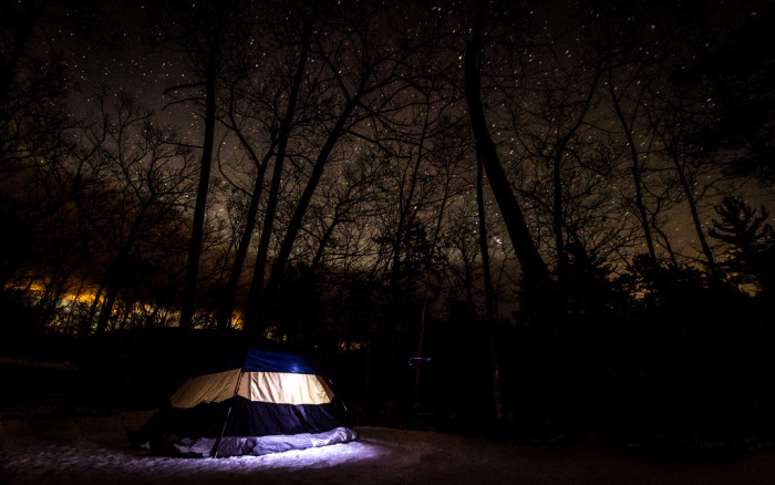 4.  Camp out under the stars.