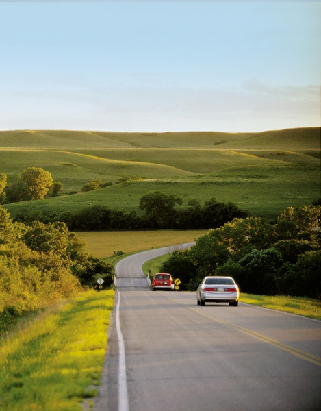 6. Enjoy the exquisite Flint Hills by driving the Flint Hills Scenic Byway...