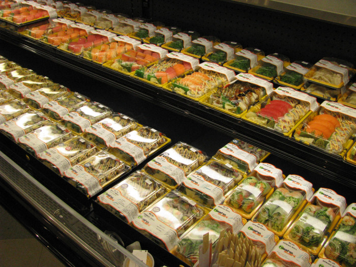 12. Where else but King Soopers can get try samples of sushi...