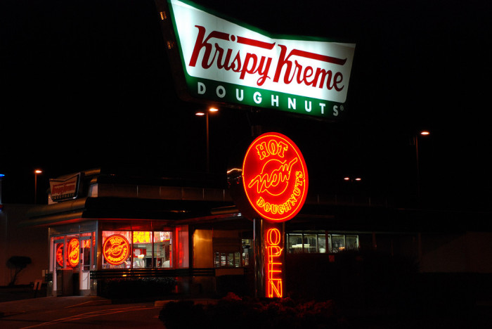 6. Impulsively pull into Krispy Kreme because the hot light is on.
