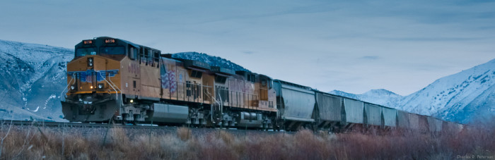 12. The low hum of moving trains in the distance.