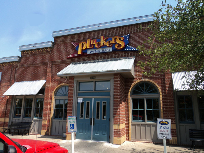 7. Pluckers delicious wings with flavors like Dr. Pepper, Baker's Gold, and Fire in the Hole!