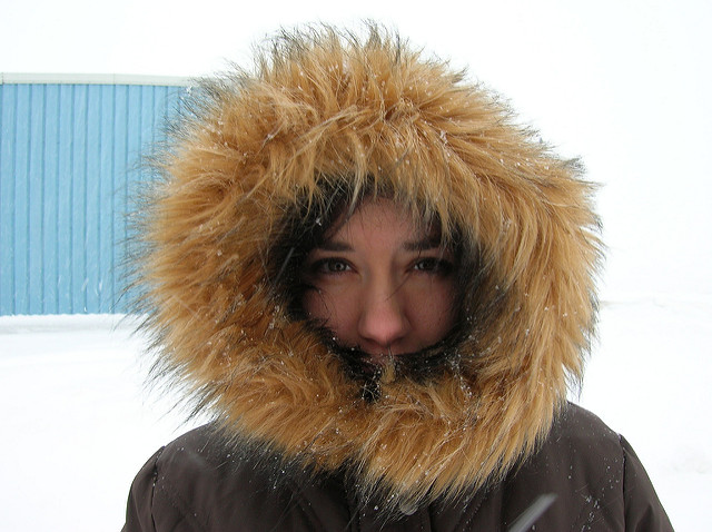 3. While most people still have their parkas on.