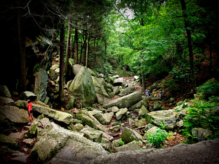 14. Climbing the rocks of Purgatory Chasm in Sutton will definitely make your palms sweat.