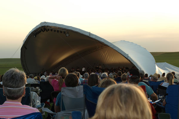 7. ...listening to the Symphony In the Flint Hills...