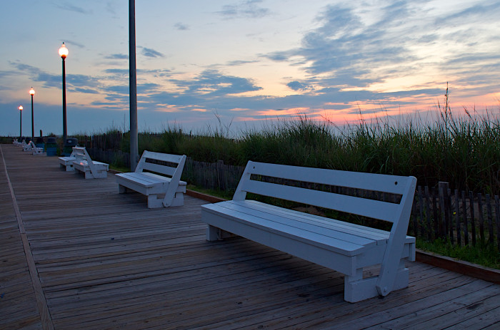 7. It's illegal to PRETEND to sleep on a bench on the Rehoboth Beach Boardwalk.